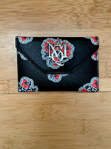 Alexander McQueen Leather Card Holder Rare Print