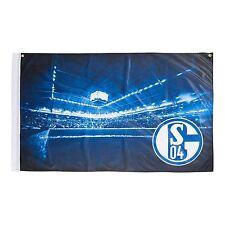 """FC Schalke 04 Hissfahne/ Hissflagge """" Veltins-Arena"""" 150x100 cm (Fahne) (2 Ösen)"""