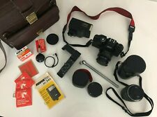 Spiegelreflex Kamera Kameraset + Objektive Revue AC3 + METZ Mecablitz Fotokamera
