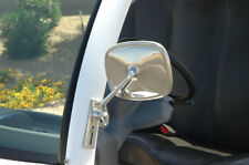 CHROME GEM Car Side Mirror -- SET OF 2 -- Fits Passenger & Driver Side