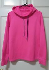 Live Love Dream NO SWEAT Water Wicking Pink Fitness Sweatshirt Hoodie Large