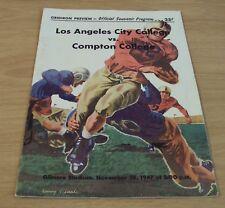 "1947 FOOTBALL 'Official SOUVENIR Program'~""LA CITY COLLEGE vs. COMPTON COLLEGE""~"