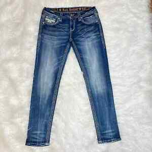 ROCK REVIVAL ABREE EASY ANKLE SKINNY JEANS SIZE 28