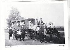"""*Postcard-""""School Bus"""" -1911- (Mud Mill To Cicero Union School) *Cicero NY(#186)"""
