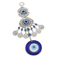 Turkish Blue Evil Eye Wall Hanging Amulet Protection Lucky Ornament Gift Charm