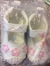 Mexx MARY JANES sz 9 Mo Baby Girl Soft Sole Leather Crib Walking Shoes ADORABLE!