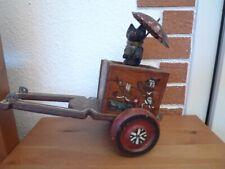 altes Nachziehtier Wagen mit Hund Holzspielzeug für Sammler und Bastler