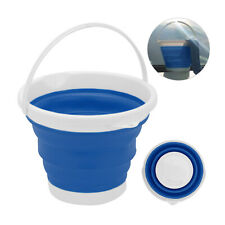 Large Collapsible Bucket 10L Capacity Sturdy Folding Silicon Water Bucket Strong