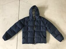 $695 Mens Crescent Down Works Seattle Puffer Jacket Small Hoodie Coat Indigo APC