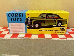 Corgi toys  Bentley Continental 224 Sports Saloon EMPTY REPRO Box ONLY NO CAR