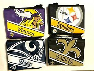 NFL Football  Team Logo 6 Pack Insulated Cooler Lunch Bag - Pick Team
