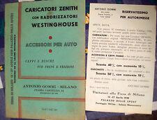 1938 CATALOGO RICAMBI PER AUTOMOBILI FIERA DI MILANO. ANTONIO GOMMI. BELLISSIMO