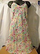 Ladies cream floral chemise/nightie & wrap set size 14/16