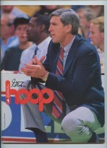 1/8 1991 NBA Basketball HOOP Program Utah Jazz Cleveland Cavaliers Jerry Sloan