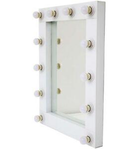Hollywood White LED Wall Dresser Mirror 80cm x 62cm