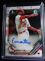 2019 Bowman Chrome Elehuris Montero Cardinals Auto Autograph RC Baseball Card