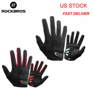 ROCKBROS Windproof Cycling Gloves Touch Screen Riding MTB Bike Bicycle Gloves