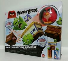 NEW The Angry Birds Movie Collectible Figure Vinyl Knockout Playset Red In Stock