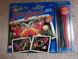 Lite Brite=Lite Loops/Picture Design Kit/Refill Set=25+ Loops=NEW=FREE SHIPPING