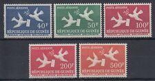 Guinea Guinée 1959 ** Mi.26/30 Brieftaube Letter pigeon [sq4599]