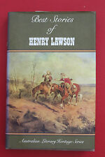 BEST STORIES OF HENRY LAWSON  Australian Literary Heritage Series (HC/DJ, 1986)
