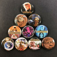 "Labyrinth 1"" Button Pin Set Fantasy Classic David Bowie Jennifer Connelly"