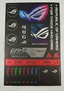 ASUS Republic of Gamers Sticker set ROG Cable Labels PC Case Logo Label Decal S4