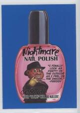 2017 Topps Wacky Packages 50th Anniversary #9 Nightmare Nail Polish Card 0c4
