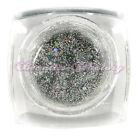 NAIL ART GEL UV COSTRUTTORE Tips COLLA Silver Rainbow Glitter Manicure #cgel30