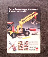 K873-Advertising Pubblicità-1984- LEGO , TECHNIC , COME COSTRUIRE LE COSE