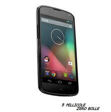 5 Pellicola OPACA per LG Nexus 4 E960 Protettiva Pellicole schermo ANTIMPRONTA