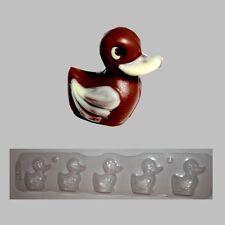 Schokoladenform-Hohlfigur-Gieß-Schüttelform-Ente schwimmend 5 fach Form je 4,5cm