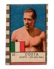 COSTA NAZIONALE NUOTO ITALIA FIGURINA campioni  sport  NANNINA anni 40
