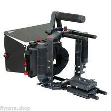 Filmcity Matte Box Sunshade for 15mm Rod Support Rig DSLR Cameras and Camcorders