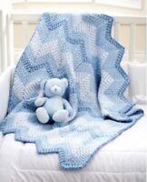 FCb89 - Crochet Pattern For Baby First Cot Blanket / Pram Cover