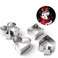 Poker Cookie Cutter Play Card Game Party Gambling Metal Baking Mold Set W