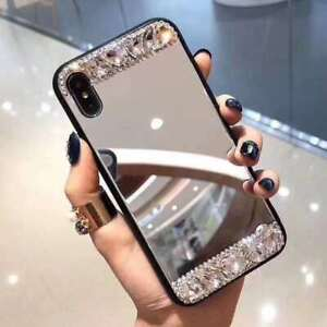 Hot Fashion Flash Diamond Makeup Mirror Women Girl Case Cover For Various Phones