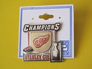 DETROIT RED WINGS 1998 STANLEY CUP CHAMPIONS LAPEL PIN By Peter David