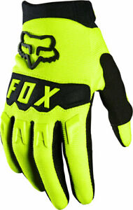Fox Racing Youth Dirtpaw Gloves - Fluorescent Yellow, Full Finger, X-Small