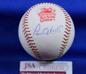 Paul O`Neill JSA Coa autograph 1991 All Star Hand Signed Baseball