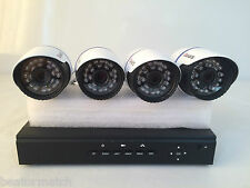 4 Channel CCTV Kit NVR Network Recorder x4 PoE 1MP 720p HD Outdoor IP Cameras
