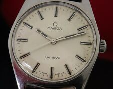 Omega Geneve Manual Wind Steel 135041 601 cal Circa 1970 Vintage Watch