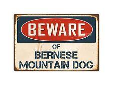"Beware Of Bernese Mountain Dog 8"" x 12"" Vintage Aluminum Retro Metal Sign VS052"