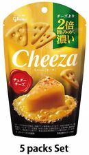 glico Cheeza 40g × 5 packs Raw Cheese Flavor Cheddar Cheese Taste Bar Japan