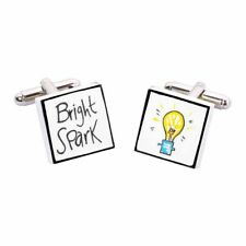 Bright Spark Cufflinks by Sonia Spencer, gift boxed. Hand painted, RRP £20!