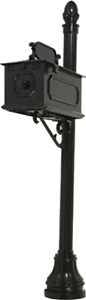 MB-3 Beautiful Cast Aluminum Mailbox System with Base, Finial, Plaque, Bracket