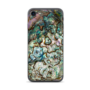Apple iPhone 7 / 8 Skins Decal Wrap Abalone Shell Gold underwater