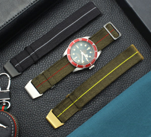 Parachute 60's French Style Marine Troops G10 Elastic NATO Army Watch Strap Band