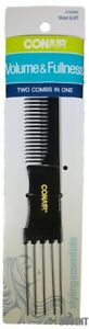 Conair Volume & Fullness Two Combs In One Styling Essentials With Metal Teeth
