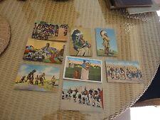 8 Indian Squaw Chief Headdress Pueblo Linen Postcards Buffalo Hoop Dance